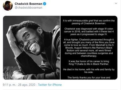 La familia compartió el comunicado en redes sociales (Foto: Captura de pantalla)