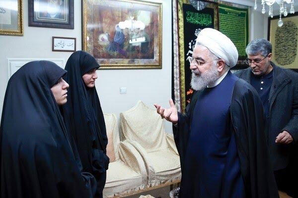 El presidente Hassan Rouhani ofreció sus condolencias a la familia del comandante de la Guardia Revolucionaria iraní muerto, Qasem Soleimani (AFP)