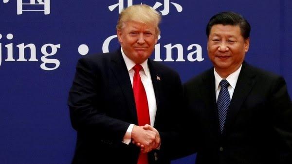 El presidente estadounidense Donald Trump y su homólogo chino Xi Jinping