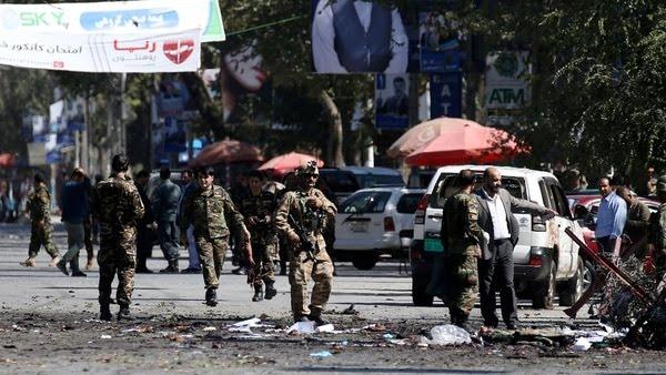 Soldados en las calles de Kabul.