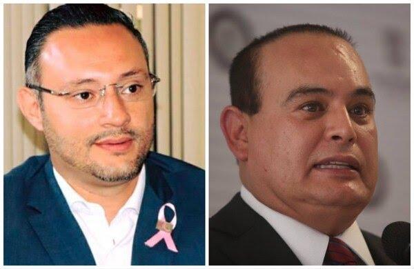 Germán Ortega, director del Seguro Popular de Michoacán y Martín Godoy Castro, secretario de Seguridad Pública en el estado, fallecieron hoy al desplomarse el helicóptero en el que viajaban (Foto: Especial)