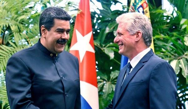 Nicolás Maduro y Miguel Díaz Canel (Reuters)