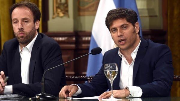 Axel Kicillof junto al ministro de Economía de la provincia de Buenos Aires, Pablo López (Eva Cabrera/Télam/cgl 04022020)