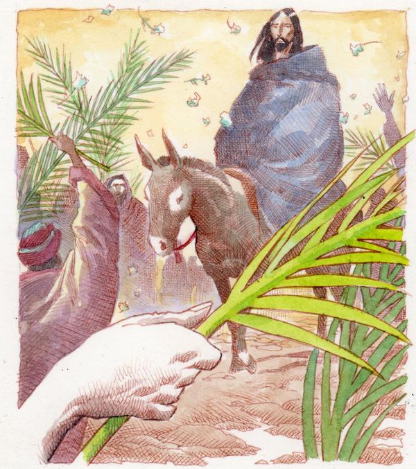 Así llegaba Jesús a Jerusalén el Domingo de Ramos (Enrique Breccia)