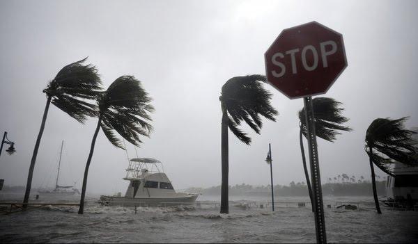El huracán Irma llegó así aCoconut Grove, en el área de Miami, el 10 de septiembrede2017. (Carlos Barria/Reuters)